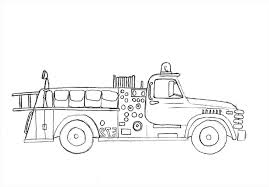 100 Fire Truck Drawing Easy Coloring Pages Free Coloring Pages