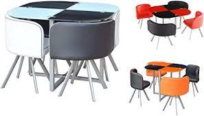 platzsparender glastisch mit 4 stühlen im retro look