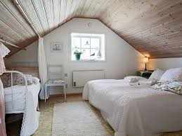 Bedroom Low Ceiling Attic Ideas White Wooden Chest Of Drawer Dark Brown Headboard Upholstered