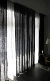 Dignitet Curtain Wire Pictures by Simple Is Beautiful Black Or Custom Color Linen Curtain Panel By