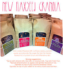Pumpkin Flaxseed Granola Nutrition by Cravings By Mail Cookies U0026 More