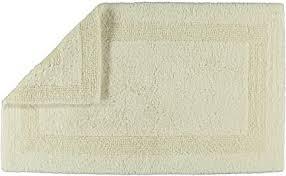 cawö wende badteppich badezimmerteppich baumwolle uni natur 60 x 100 cm