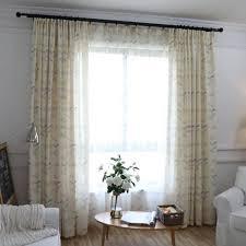 schön moderne polyester blatt gelb erker gardinen