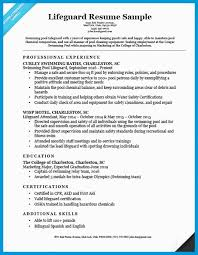 Lifeguard Resume Examples Remarkable Skills And Certifications Example Sample Better With Medium Image