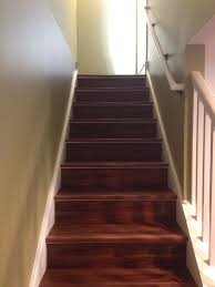 Tile Stair Nosing Trim by Installed Vinyl Planks Directly On Top Of The Old Plywood Basement