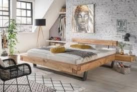 schwebebett balkenbett massiv massivholz modern