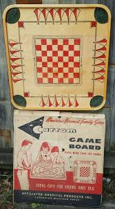 Vintage 1960s Carrom Board In Original Box Only