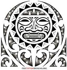 Aztec Tattoo Art Tribal Sun