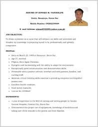 Sample Resume For Government Employee Philippines 312074 Ideas Collection