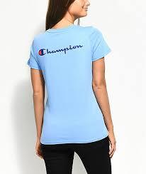 Champion Patriotic Light Blue T Shirt