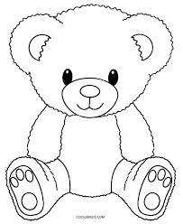 Beautifully Idea Teddy Bear Coloring Page Printable Pages For Kids