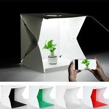100 Studio Tent Portable Photo PAVLIT 40x40cm Photo Shooting S With 2pcs Led Strips 4 Colors Backdrops WhiteBlackGreenRed 16 Inches USB