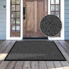 tapis d entrée casa pura anthracite noir très absorbant