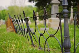 Halloween Cemetery Fence Finials by The Iron Fence And The Family Plot The Big Séance