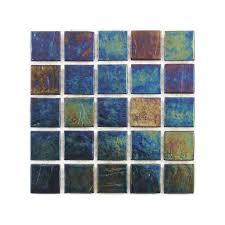 tivoli series 3 4 recycled glass tile tivoli series indigo blend