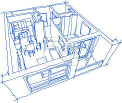 fototapete gezeichnete skizze des perspektive weggeschnittenen diagramms