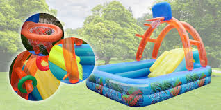 Kids Play Pool With Basketball Hoop And Slide For RM199 Delivery To WM Only