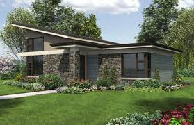 Large One Story Homes by Single Story Modern House Plans Facade Large Windows