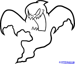 Scary Halloween Coloring Sheets Printable by Halloween Ghost How To Draw A Halloween Ghost Halloween Ghost
