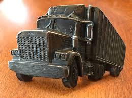 100 Truck Belt Vintage Semi Brass Tone Buckle By Great American Etsy