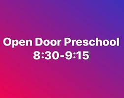 Open to the public at Open Door Preschool in Augusta 8 30 9 15