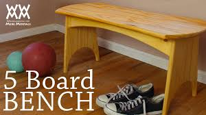 you can make this five board bench in a weekend fun woodworking