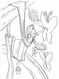 Free Printable Coloring Rapunzel Page 42 With Additional Print