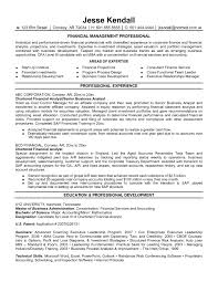 Financial Analyst Resume Examples Perfect Best Format In 2016 2017 Yw A143043