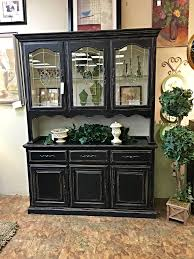 SOLD Black Shabby Chic Hutch Before After