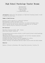 Free Download Sample Resume Samples High School Psychology Teacher Of Cv Examples