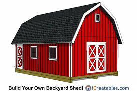 10 X 16 Shed Plans Gambrel by 16x24 Shed Plans Buy Our Large Shed Plans Today Icreatables