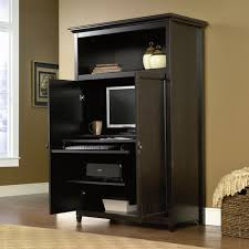 Furniture: Black Computer Armoire For Small House Furniture Armoire Cool Compact Computer For Home Apartments Comfy Office Fniture Set Ideas With Wooden Cherry Wood Desk Symbol Of Elegance All Home Amazoncom Sauder Harbor View Antiqued Paint Small Tv Stands Corner Flat Screens Tall Ana White Aka My New Office Diy Projects Pating With Antique Oak Clawfoot Mirrored Chifferobe Wardrobe Armoire Computer Desk Abolishrmcom Black Jen Joes Design Frame Above Space