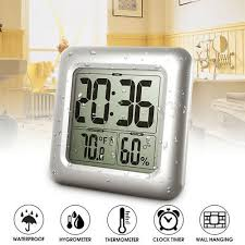 badezimmer dusche wand uhr timer hygrometer thermometer