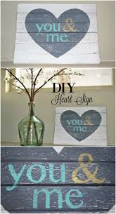 Valentines Day Blog Hop You Me Heart DIY Wood Sign