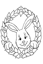 Mask Rabbit Baby Bunny Coloring Page Easter