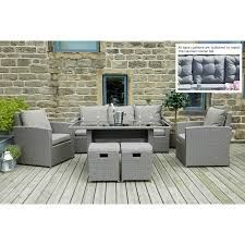 Pacific Lifestyle Mixed Grey Flat Weave Cayman Relaxed Dining Set