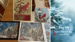 Christmas Wall Art Using Dollar Tree Bags