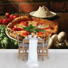 details zu vlies küche fototapete tapete f02846 pizza restaurant esszimmer pizza italien