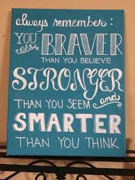 Always Remember You Are Braver Than Believe Stronger Seem And Smarter Think Canvas Word Art Winnie The Pooh