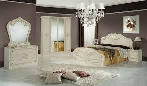 italienisches schlafzimmer möbel komplett in beige bett 160x200