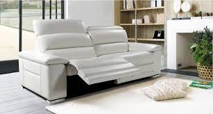 canapé relaxation cuir 3 places fixes mistral mobilier de