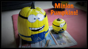 Minion Pumpkin Carving Tutorial by How To Paint A Minion Pumpkin Youtube