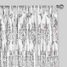 white octavia sheer crinkle cotton voile curtains set of 2 world