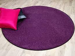 snapstyle trend velour teppich lila rund in 7 größen