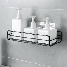 küche badregal regale badablage halter duschkorb ohne bohren wandregal eisen