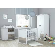 chambre bebe lit et commode plage chambre bébé complète 3 pièces armoire lit 60x120 cm