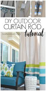 144 To 240 Inch Adjustable Curtain Rod by Best 25 Outdoor Curtain Rods Ideas On Pinterest Outdoor