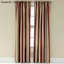 Burgundy Grommet Blackout Curtains by Mercury Stripe Window Treatment