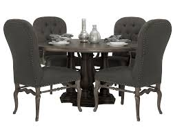 Awesome Pc Round Dining Table Upholstered Chairs Set ... Trisha Yearwood Home Music City Hello Im Gone Ding Room Table Grey Griffin Cutback Upholstered Chair Along With Dark Wood Amazoncom Formal Luxurious 5pc Set Antique Silver Finish Tribeca Round And 2 Upholstered Side Chairs American Haddie Light Tone 4 Value Hooker Fniture Corsica Rectangle Pedestal Matisse With W Ladder Back By Paula Deen Vienna Merlot Kayla New