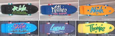 deco porte chambre plaque skate rétro vintage decoration de porte personnalisable